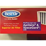 NEW 2 PK Aprilaire Space-Gard Air Filter Replacement for 401 Model 2400 By BestAir