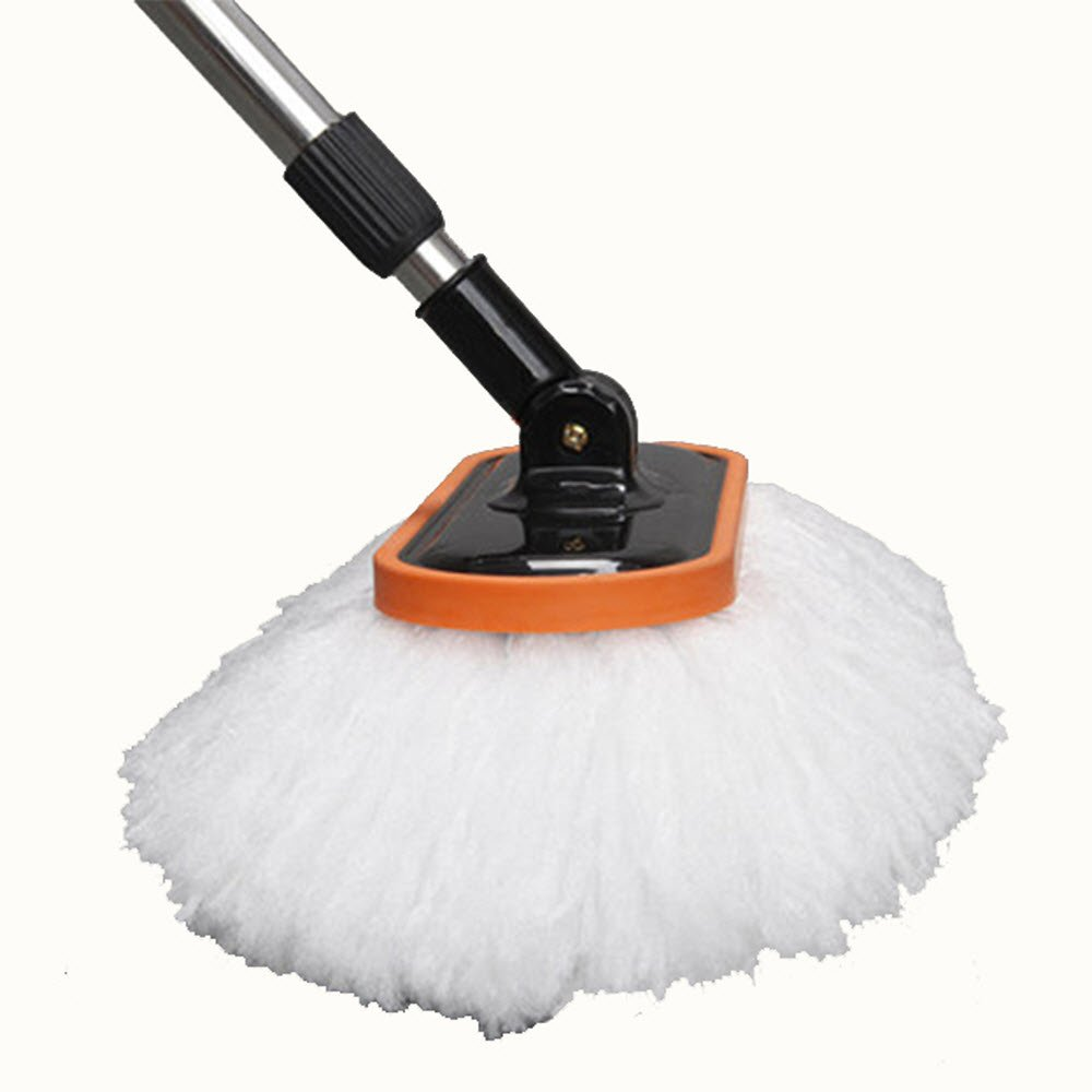 Car Cleaning Brush with Long Handle Best for Washing Your Car, Truck, RV, etc. - Extends 60'' Perfect for Hard to Reach Places