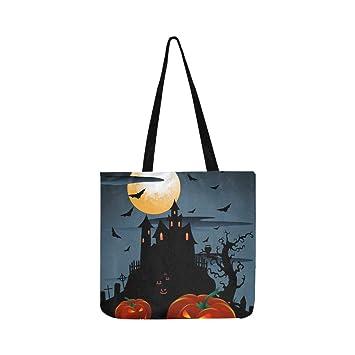 Scary Pumpkins Halloween Moon Canvas Tote bolso bandolera ...