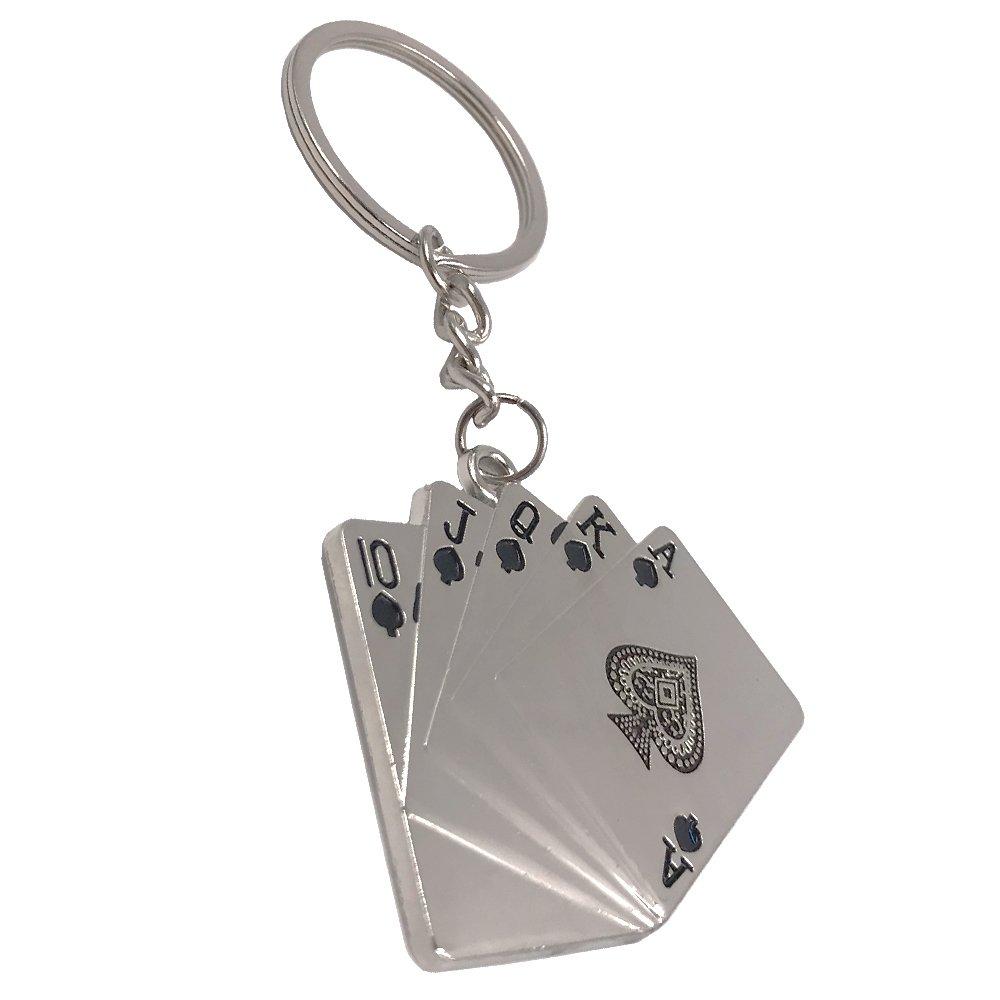 Wang Zhai Lucky llavero Poker & Mahjong & trébol de cuatro ...