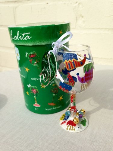 Christmas Decoration, Mini Hand Painted Lolita Wine Glass