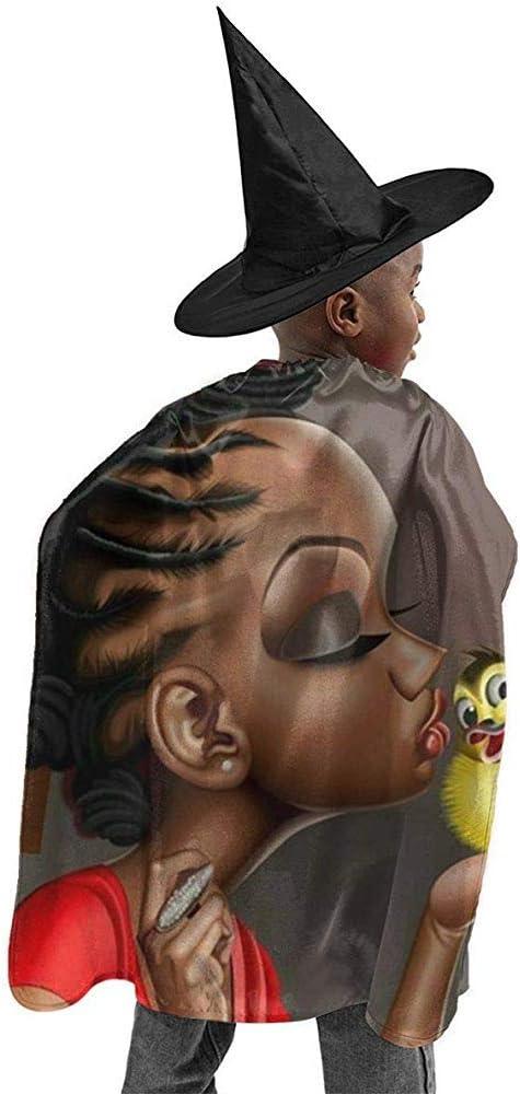 KDU Fashion Capa De Mago,Linda Chica Africana Beso Mágico Pájaro ...