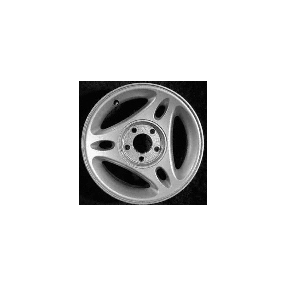 96 98 FORD MUSTANG ALLOY WHEEL RIM 15 INCH, Diameter 15, Width 7 (3 SPOKES), 3 spokes with one cutout in spoke, BRIGHT SILVER, 1 Piece Only, Remanufactured (1996 96 1997 97 1998 98) ALY03172U10
