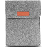 MoKo Sleeve for Kindle Paperwhite/Kindle Voyage, Protective Felt Cover Case Pouch Bag for Amazon Kindle Paperwhite/Voyage/Kindle(8th Gen, 2016)/6 Inch Kindle Oasis, Light Gray