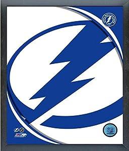 "Tampa Bay Lightning NHL Team Logo Photo (Size: 17"" x 21"") Framed"