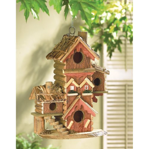 Gingerbread Style Birdhouse Avian Bird House Condo Garden, Lawn, Supply, Maintenance (Birdhouse Gingerbread Style)