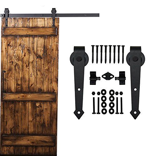 homedeco hardware black rustic aroow design retro wood sliding barn door hardware interior flat tracks kits for single door 6ft single door kit