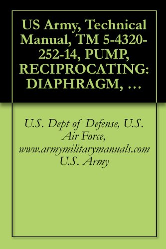 (US Army, Technical Manual, TM 5-4320-252-14, PUMP, RECIPROCATING: DIAPHRAGM, 100 GPM, LESS MIL STD ENGINE, (R CHAINBELT MODEL 4DG), (NSN 4320-00-063-7363), military manauals, special forces)
