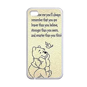 Generic For Iphone4 Apple Custom Design With Winnie The Pooh Quilted Phone Case For Man Choose Design 1