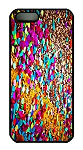 indestructible covers colored confetti PC Black Case for iphone 5/5S