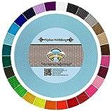 Country Brook Design 1-Inch Heavy Nylon Webbing, 50-Yard, Ocean Blue