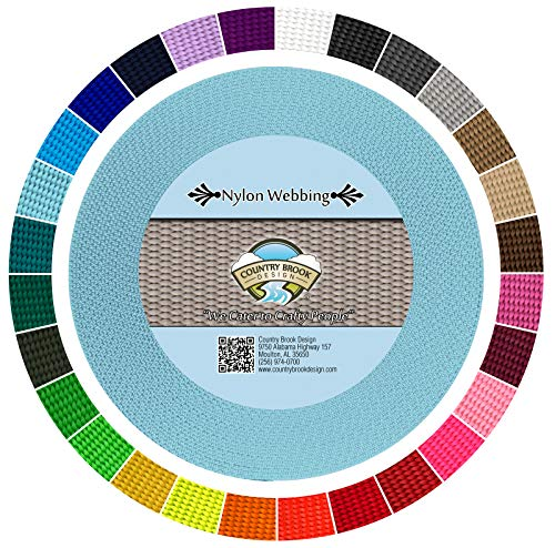 Country Brook Design 1-Inch Heavy Nylon Webbing, 50-Yard, Ocean Blue by Country Brook Design
