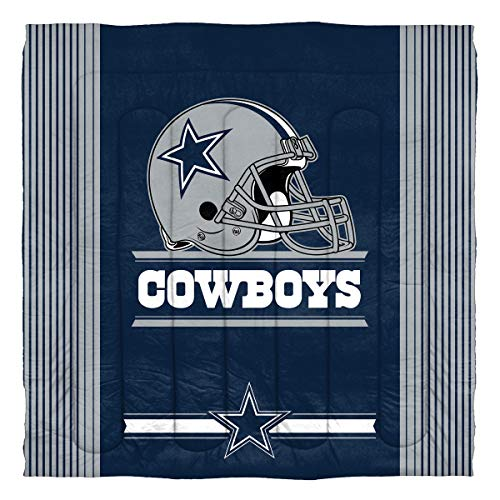 Officially Licensed NFL Dallas Cowboys 'Safety' Full/Queen Comforter and 2 Sham Set, 86' x 86'