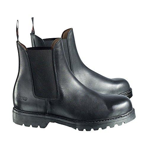 horze Steel Toe Jodhpur Sicherheits-Stiefel, Alle Großen, Damen und Herren Schwarz (BL)