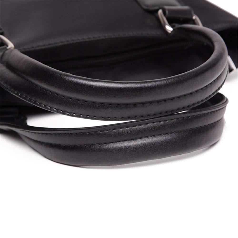 XFRJYKJ Mens briefcase Vertical Briefcase Mens Portable File Bag Laptop Bag 28.5x5.5x29.5cm