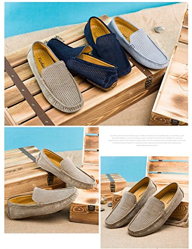 Pictures of UNN Mens Loafers Casual Boat Shoes Genuine 2