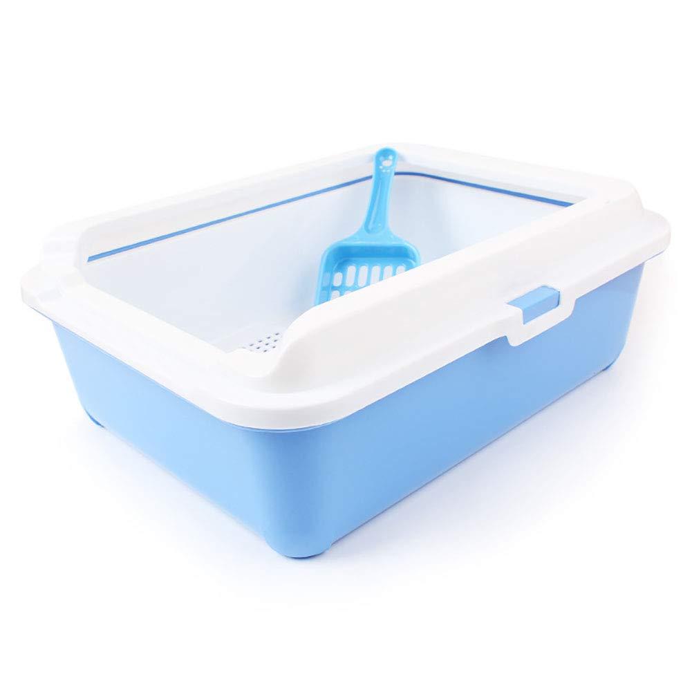 SPet Double Pine cat Litter Bowl,cat Litter Shovel,Double Sand cat Toilet,mesh Sand Leakage Design-Blue by SPet