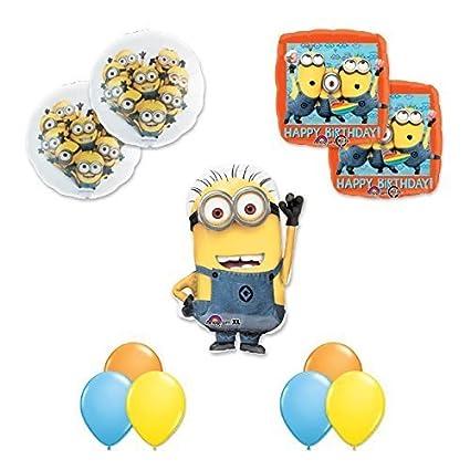 Amazon.com: Despicable Me 2 Minions 11 pc Happy decoraciones ...