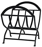 Uniflame, W-1038, Black Wrought Iron Log Rack