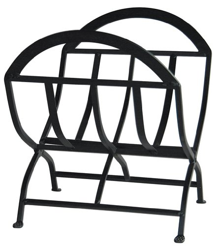 Uniflame, W-1038, Black Wrought Iron Log Rack by Uniflame