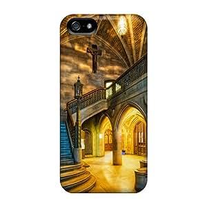 Tpu Doris Shop Shockproof Scratcheproof Gold Church Hard Case Cover For Iphone 5/5s