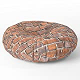 Society6 Texture - Brick Wall Floor Pillow Round 26'' x 26''