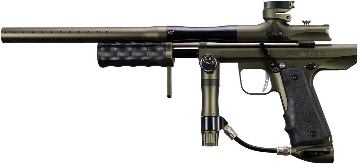 Empire Sniper Pump Paintball Marker - Dust Olive Polished Black w Barrel Kit