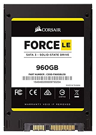 Corsair Force 960GB SATA Solid State Drive (CSSD-F960GBLEB) (Black) Internal Solid State Drives at amazon