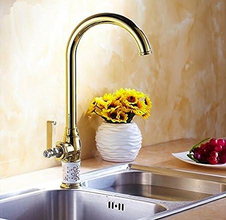 Tourmeler Blanc robinet mitigeur de lavabo robinet Doré de ...