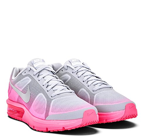 Nike Girl's Air Max Sequent (GS) Running Shoe Wolf Grey/Hyper Pink/Reflect Silver Size 6.5 M US by NIKE