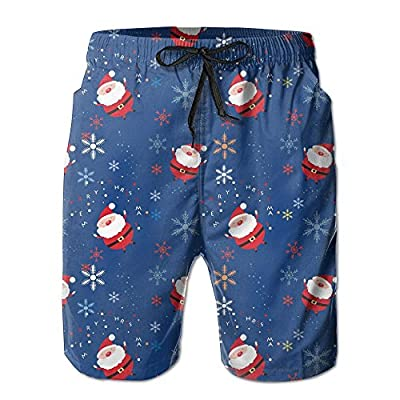 NaNa Home Merry Christmas Santa Claus Men's Colorful Beach Shorts Swim Trunks for sale