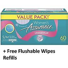 Assurance for Women Maximum Absorbency Protective Underwear, Small/Medium, 60 ct