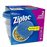 Ziploc Large Bowl Snap 'N Seal Lid 48 Ounce