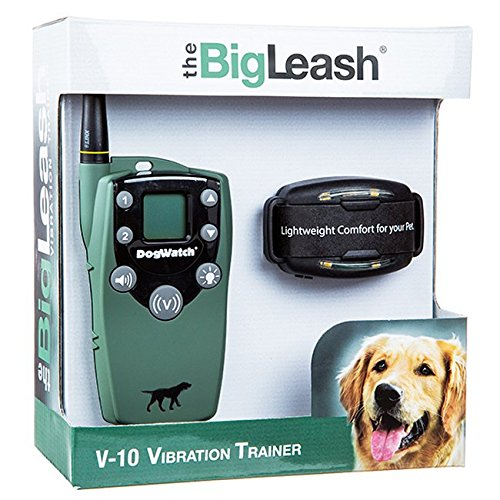 """The BigLeash V-10 Vibration Dog Training Collar with FireFly Nightlight and """"In-Touch"""" Two Way Communication by DogWatch"""
