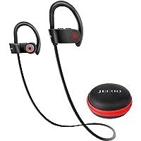 Jecoo Audífonos Bluetooth Última 4.2 Auriculares Bluetooth Estérero Audífonos Deportivos a Prueba a Sudor con Micrófono…