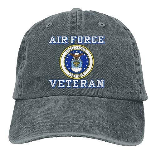 UCOOLE US Air Force Veteran with USAF Seal Dad Hat Adjustable Denim Hat Classic Baseball Cap