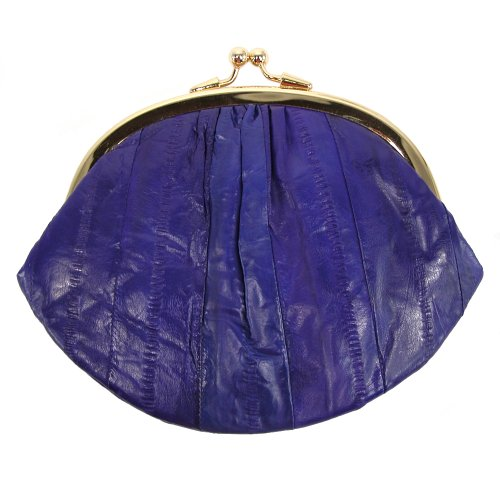 Purse Eel Skin (MJ Masters Womens Eel Skin Large Coin Purse, Purple)
