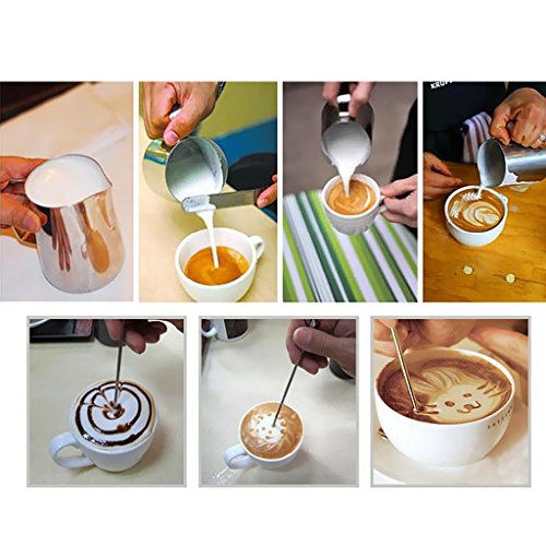 Jili Online 350ml Espresso Coffee Milk Frothing Pitcher Kitchen Bar DIY + Tamper 58mm