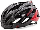 Giro Savant Road Bike Helmet, Bright Red/Black, Medium