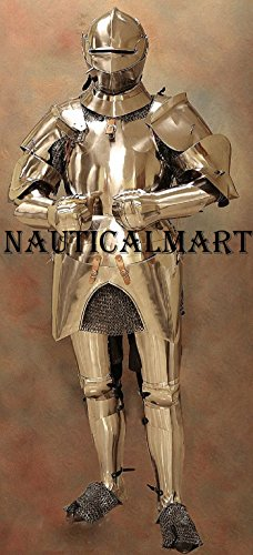 LARP Armour, Full, Italian (Milanese), Medieval Suit of Armor reenctment costume by NAUTICALMART