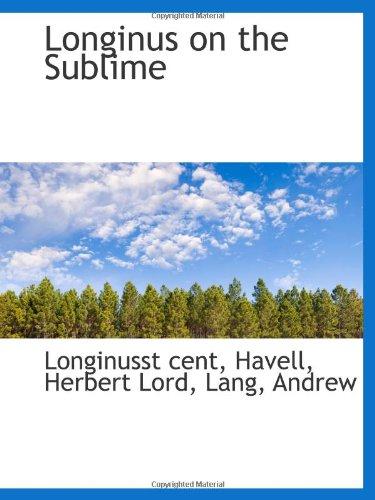 Read Online Longinus on the Sublime PDF