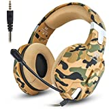 JEECOO Stereo Gaming Headphones Over-Ear Headset with Mic Soft Earmuff Compatible with Xbox One Playstation 4 PC Laptop Tablet PC