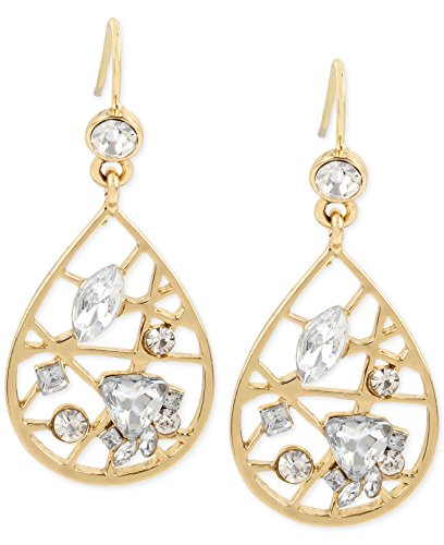 M. Haskell for INC International Concepts Gold-Tone Crystal Web Teardrop Earrings
