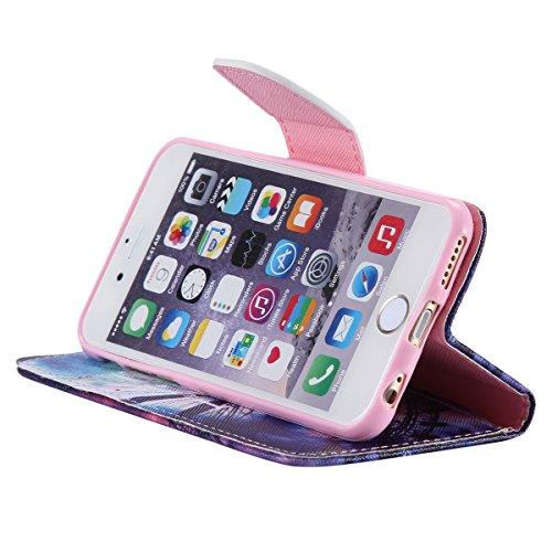 """iPhone 6 / iPhone 6S (4.7"""") Coque , Apple iPhone 6 / iPhone 6S (4.7-inch) Coque Lifetrut® [ Amour d'été ] Luxe Premium Portefeuille Flip mignon Coque TPU souple Folio en cuir PU intégré dans la carte"""