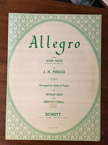 Allegro from Seven Pieces (from the 18th Century) Arranged for Violin & Piano -- Ed. 09717 AP ()