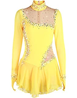 4f2a5d24688d Figure Skating Dress Women's Girls' Ice Skating Dress Daffodil Spandex High  Elasticity Competition Skating Wear