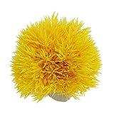 Xcdiscount boule en plastique en forme Herbe décorative Plante d'Aquarium, 3,5 pouces Hauteur, Jaune