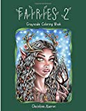 Fairies 2 Grayscale Coloring Book