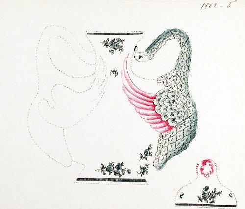 (An original design for a porcelain vase)