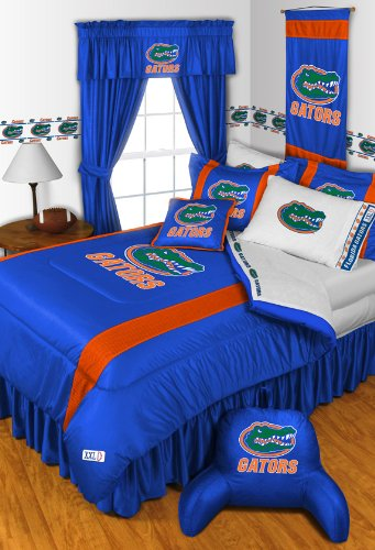 Florida Gators 5 PIECE TWIN BEDDING SET, BED IN A BAG (COMFORTER, FLAT SHEET, FITTED SHEET, 1 - PILLOW CASE, 1 - PILLOW SHAM by Dream Time Kids Bedding